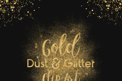 Gold Dust & Glitter Clip Art