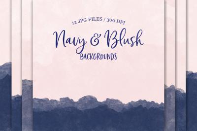 Navy & Blush Backgrounds