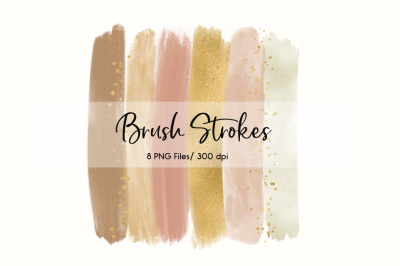 Brush Strokes Clip Art (Natural)