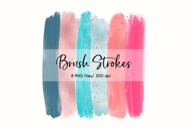 Brush Strokes Clip Art (Sunrise)