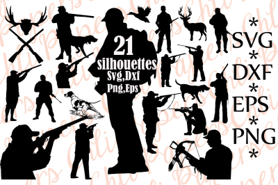 Hunting Silhouettes Svg,HUNTING CLIPART,Hunter Svg,Hunter cut files