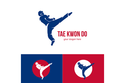 Vector taekwondo logo template. Martial arts badge.