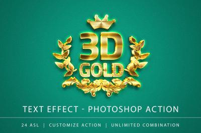 3D Gold Text Effect