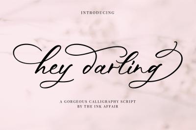 Hey Darling Calligraphy Script Font