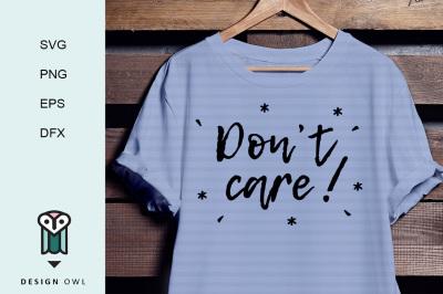 Don't care SVG PNG EPS DFX