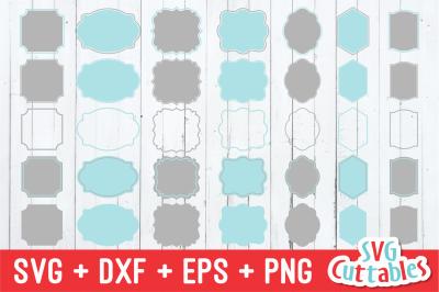 Frames SVG - Labels SVG - set B