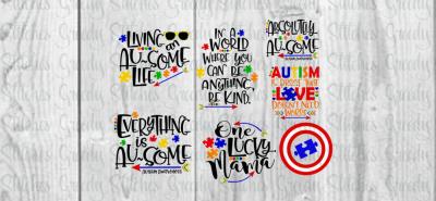Autism Awareness BundleSVG/DXF/FCM/EPS/PNG