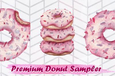 3 Premium Donut Sampler