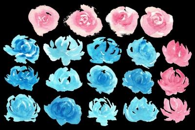 19 Loose Watercolor Florals