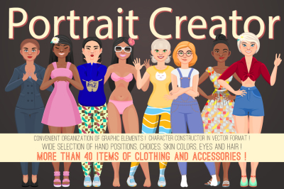 Character portrait girl creator