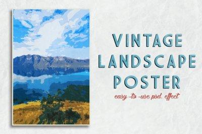 Vintage Landscape Poster Template