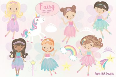 Fairy Clipart Set