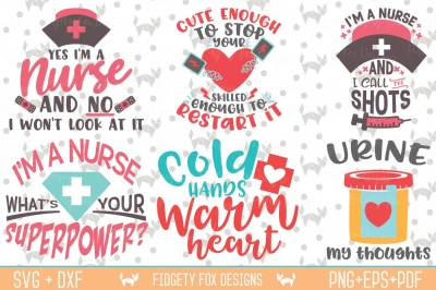 Nurse Svg Bundle, Nursing Bundle, Svg Dxf Eps Pdf Png Cutting files