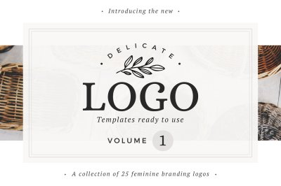 25 Delicate Feminine Logos - Vol 1