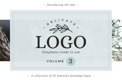 25 Delicate Feminine Logos - Vol 3
