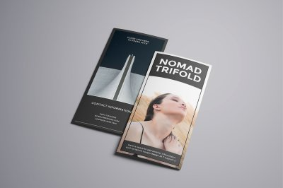 Nomad A4 Trifold Brochure Template