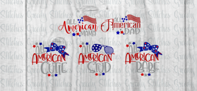 All American Family SVG/Printable Bundle