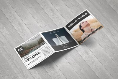 Nomad Square Trifold Template