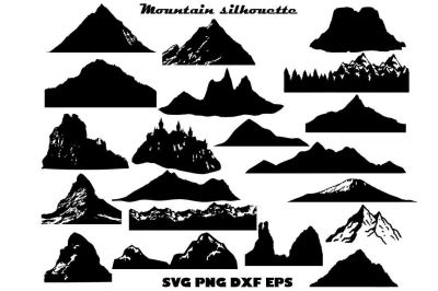 Mountain Silhouette SVG DXF EPS PNG