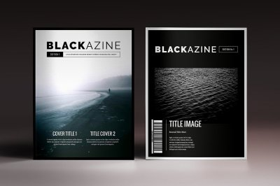 Blackazine Magazine Indesign Template