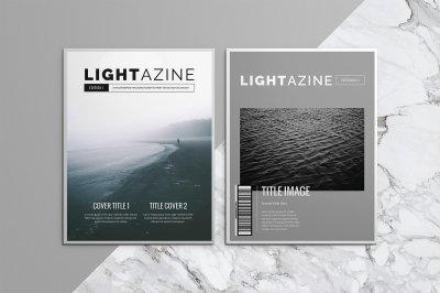 Lightazine Indesign Magazine Template