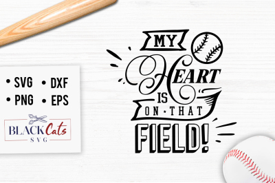 My heart is on that field SVG