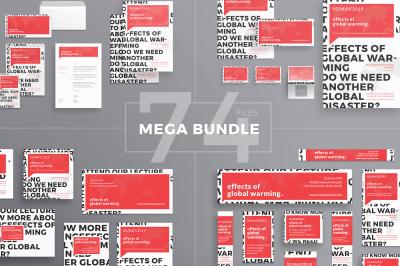 Design templates bundle | flyer, banner, branding | Global Warming