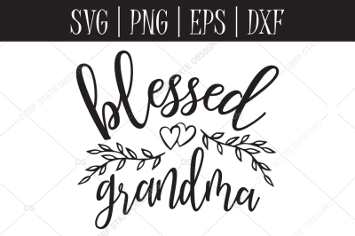 Blessed Grandma SVG, EPS, PNG, DXF
