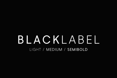 Black Label - Minimal Sans Serif