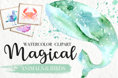 Watercolor Magical Animals