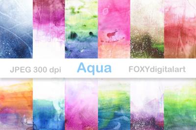 Watercolor Digital Paper Watercolor Backgrounds