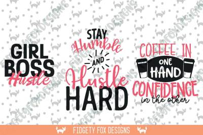 Girl Boss Svg Bundle, Hustle Svg, Dxf Eps Pdf Png Cutting files
