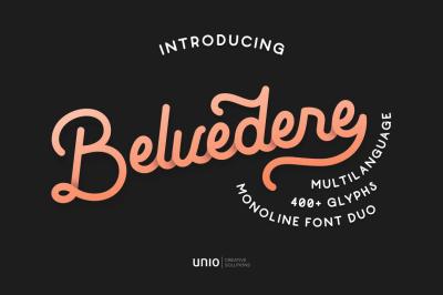 Belvedere - Monoline Font Duo