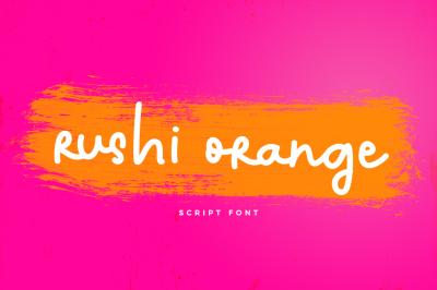 Rushi Orange Font