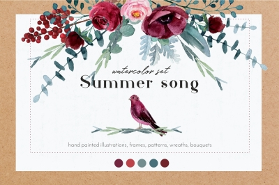 Summer song - watercolor set