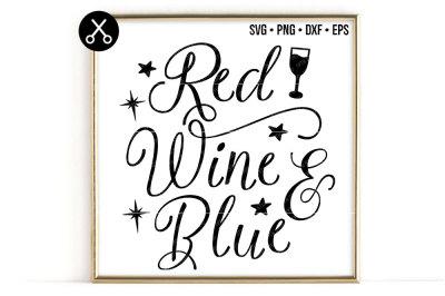 RED WINE & BLUE SVG -0639