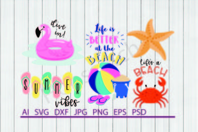 Beach Bundle, SVG Files, DXF Files, Cuttable Files