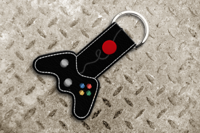 Video Game Controller ITH Key Fob | Applique Embroidery