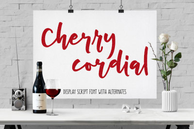 Cherry Cordial: script display font