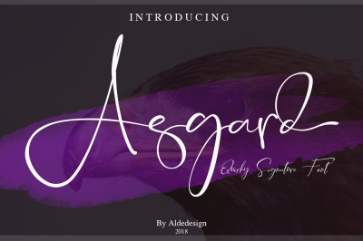Asgard Signature Font