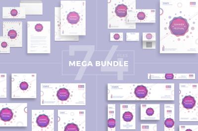 Design templates bundle | flyer, banner, branding | Summer Festival