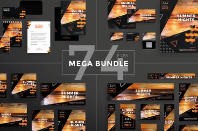 Design templates bundle | flyer, banner, branding | Summer Film Festival