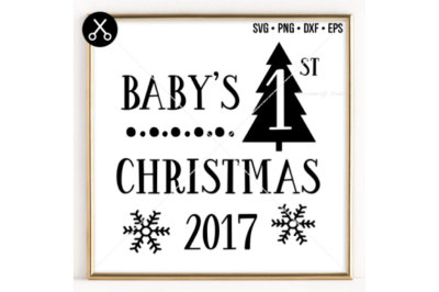 BABY'S 1ST CHRISTMAS 2017 SVG -0023