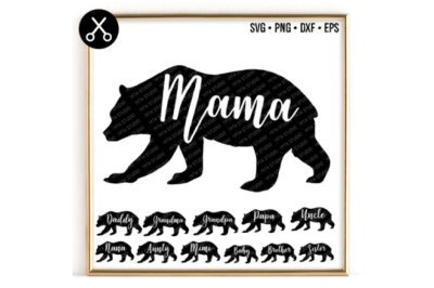 Bear Family Pack SVG -0033