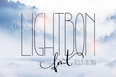 Lightbon Modern Script Font