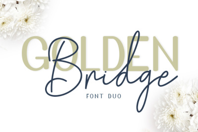 Golden Bridge Font Duo