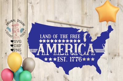 America Est 1776 Cut File and Printable