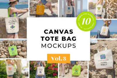 Canvas Tote Bag Mockups Pack Vol. 3