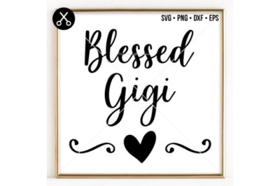 BLESSED GIGI SVG -0048