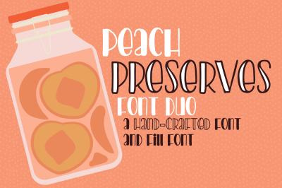 PN Peach Preserves Font Duo